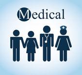 Medycznych opieki zdrowotnej — Wektor stockowy