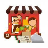Gıda teslim — Stok Vektör