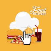 Еда доставки — Cтоковый вектор