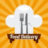 配信食べ物 — ストックベクタ