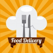 Levering voedsel — Stok Vektör