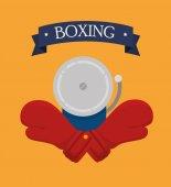 ボクシングのデザイン. — ストックベクタ
