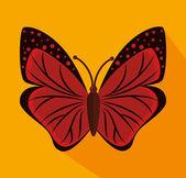 Bläckhorn, quill, kuvert och rött hjärta. — ストックベクタ