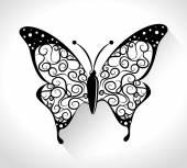 Дизайн бабочки. — Cтоковый вектор