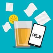 Friday design. — Stock Vector