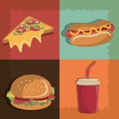 Fast food design. — Stock Vector