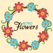 花のデザイン. — ストックベクタ