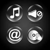 Iconos de sonido — Vector de stock