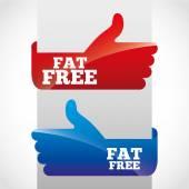 Fat free — Stock Vector