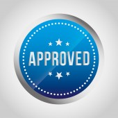 Approved seal icon — Stock Vector