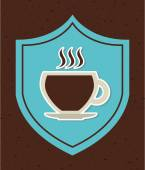 символ времени кофе — Cтоковый вектор