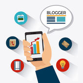 Blog-design. — Stockvektor