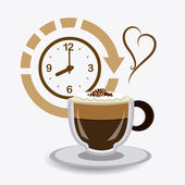 Coffee time design. — Stock Vector