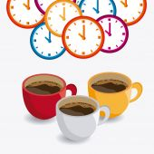 Coffee time design. — Stock Vector