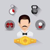 拳击设计. — 图库矢量图片