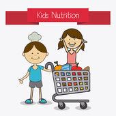 Kids food design. — Stock Vector