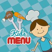 Kids food design. — Vector de stock