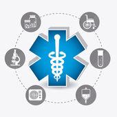 Projekt medyczne — Wektor stockowy