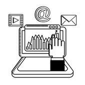 Dijital pazarlama — Stok Vektör