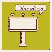 Hoarding icon — Stock Vector