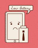 Battery power — Stock Vector