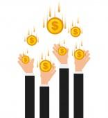 お金の概念 — ストックベクタ