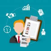 Job digital design. — Stock Vector