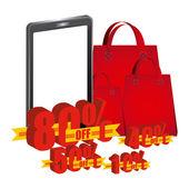 Ecommerce labels — Stock Vector