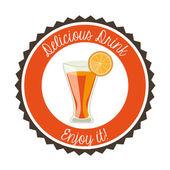 Dlicious drink — Stok Vektör