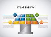 Energia solare — Vettoriale Stock
