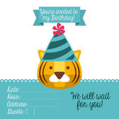 Birthday invitation — Stock Vector
