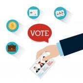 Vote design. — Stock Vector