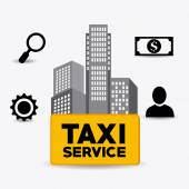 Taxi service design. — Stock Vector