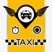 Taxi service design. — Stock Vector