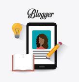 Blogger digital design. — Stock Vector
