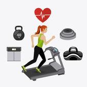 Fitness lifestyle design. — Stock Vector