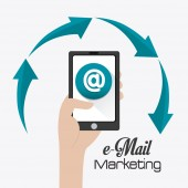 Email marketing design. — Stock Vector