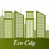 Ecolo city design. — Stock Vector