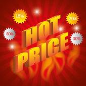 Hot price digital design. — Stock Vector