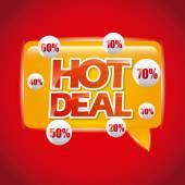 Hot deal — Stock Vector