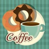 Coffee digital design. — Stockvector