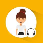 User avatar design — Vector de stock