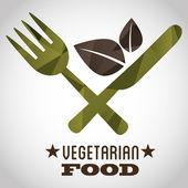 Diseño de comida vegetariana — Vector de stock