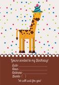 Birthday invitation card — Stock Vector