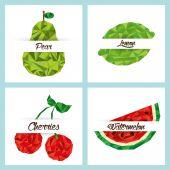 Läckra frukter set — Stockvektor