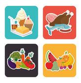 Gesunde Ernährung-Symbole entwerfen — Stockvektor