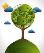 Green energy design — Stock Vector
