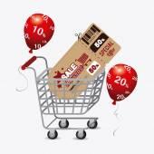 Shopping sales design. — Stock Vector