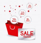 Shopping sales design. — Wektor stockowy