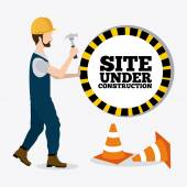 Construction digital design. — Stock Vector